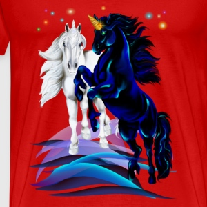 Two Unicorn Stallions Tops - Men's Premium T-Shirt