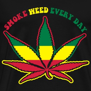 smoke weed every day Débardeurs - T-shirt Premium Homme