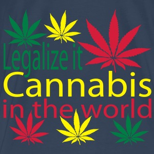 legalize it cannabis in the world Top - Maglietta Premium da uomo