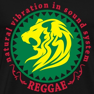 natural vibration in sound system reggae T-shirts - Premium-T-shirt herr