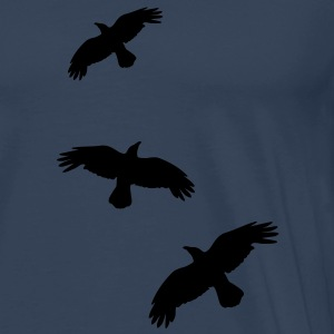 raben krähen mystisch vogel fliegen raven mystical crows flying bird Toppe - Herre premium T-shirt