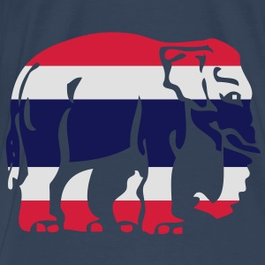Thai Flag Elephant Crossing Sign - Men's Premium T-Shirt
