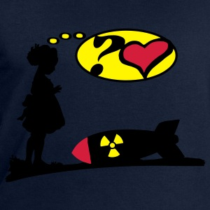 Are you lovely? Bomb Girl love comic / Atomic Bomb Tops - Men's Sweatshirt by Stanley & Stella