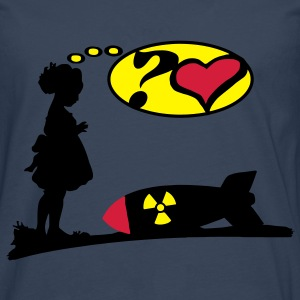 Are you lovely? Bomb Girl love comic / Atomic Bomb Tops - Men's Premium Longsleeve Shirt