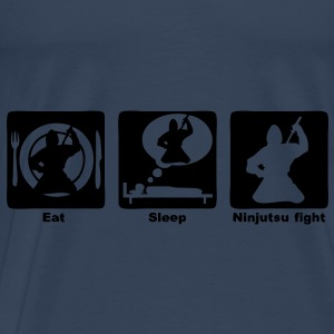 ninjutsu fight eat sleep play2 Débardeurs - T-shirt Premium Homme