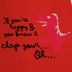 if you're happy and you know it... Kinder T-Shirts - Kochschürze