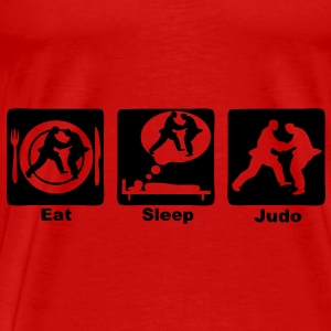 judo eat sleep play Débardeurs - T-shirt Premium Homme