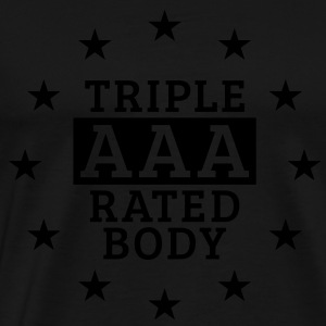 Triple AAA Rated Body, Men's Tank Top - Men's Premium T-Shirt