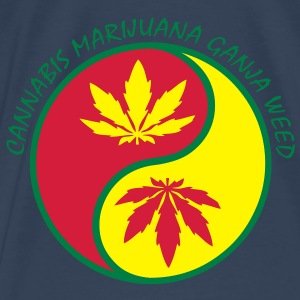 cannabis marijuana ganja weed Tops - Men's Premium T-Shirt
