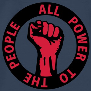 2 colors - all power to the people - against capitalism working class war revolution Tops - Men's Premium T-Shirt