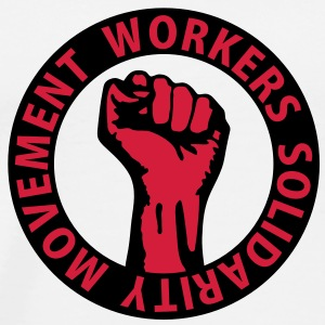 2 colors - Workers Solidarity Movement - Working Class Unity Against Capitalism Toppar - Premium-T-shirt herr