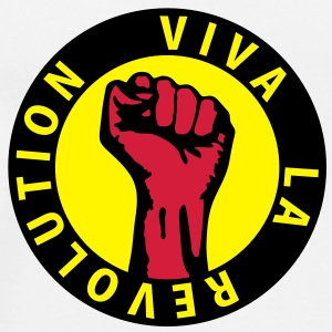 3 colors - Viva la Revolution - Working Class Unity Against Capitalism T-shirt - Maglietta Premium da uomo