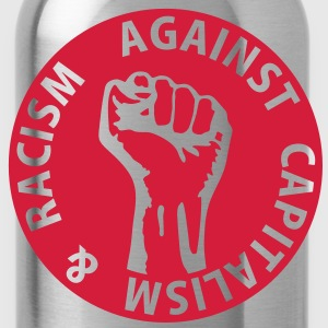 1 color - against capitalism & racism - against capitalism working class war revolution Tops - Water Bottle