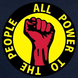 3 colors - all power to the people - against capitalism working class war revolution Toppar - Sweatshirt herr från Stanley & Stella