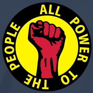 3 colors - all power to the people - against capitalism working class war revolution Toppar - Premium-T-shirt herr