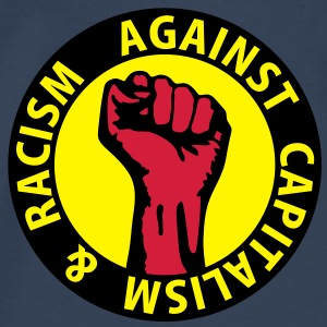 3 colors - against capitalism & racism - against capitalism working class war revolution Toppar - Premium-T-shirt herr