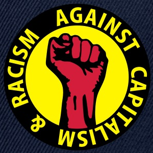 3 colors - against capitalism & racism - against capitalism working class war revolution Tops - Snapback Cap