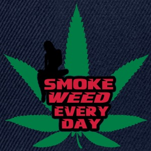 smoke weed every day Tops - Snapback Cap