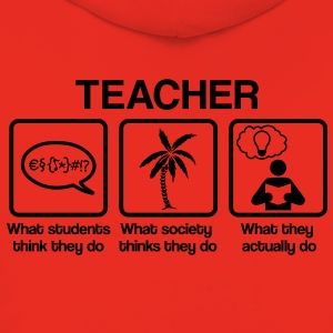 Teacher - What my friends think I do Koszulki - Bluza dziecięca z kapturem Premium