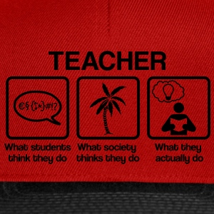 Teacher - What my friends think I do T-Shirts - Snapback Cap