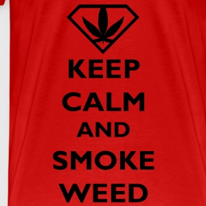 Keep Calm and Smoke Weed Toppe - Herre premium T-shirt