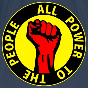 Digital - all power to the people - against capitalism working class war revolution Top - Maglietta Premium da uomo