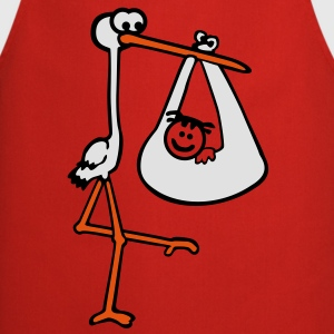 Stork with Baby T-Shirts - Cooking Apron