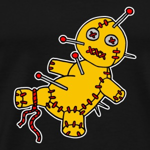 Digital - Voodoo Puppe Doll Funny Game Hawaii Tattoo Horror Psychopath Tops - Mannen Premium T-shirt
