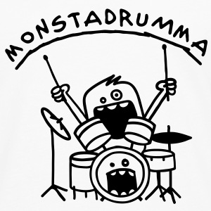 Monster Drummer Topper - Premium langermet T-skjorte for menn