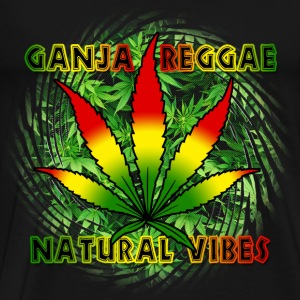 ganja reggae natural vibes Tops - Men's Premium T-Shirt