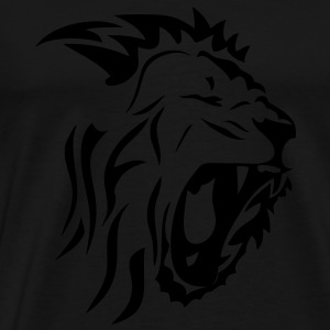 tribal lion gueule rugit3 Tee shirts - T-shirt Premium Homme
