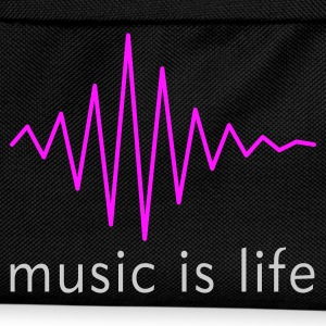 Music is life Pulse / Music is life soundwave T-shirt - Zaino per bambini