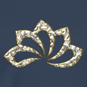 Lotus Flower, digital, gold silver, symbol of perfection and enlightenment, sacred symbol Tops - Men's Premium T-Shirt