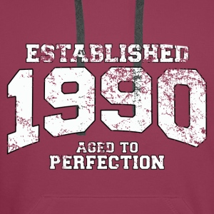 established 1990 - aged to perfection (nl) Tops - Mannen Premium hoodie