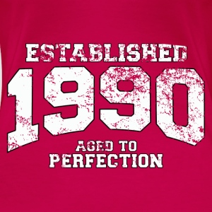 Geburtstag - established 1990 - aged to perfection - Frauen Premium T-Shirt