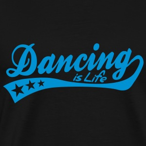 dancing is life - retro Toppe - Herre premium T-shirt