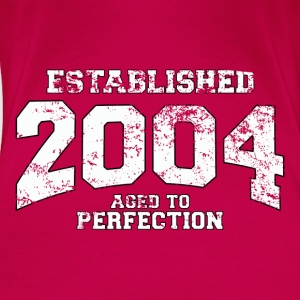 established 2004 - aged to perfection (sv) Toppar - Premium-T-shirt dam