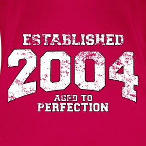 established 2004 - aged to perfection (es) Tops - Camiseta premium mujer
