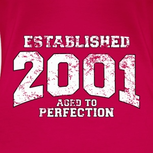 established 2001 - aged to perfection (es) Tops - Camiseta premium mujer