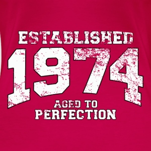 Geburtstag - established 1974 - aged to perfection - Frauen Premium T-Shirt