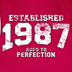 established 1987 - aged to perfection (nl) Tops - Vrouwen Premium T-shirt