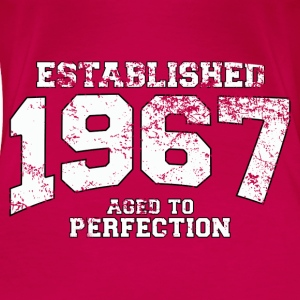 Geburtstag - established 1967 - aged to perfection - Frauen Premium T-Shirt