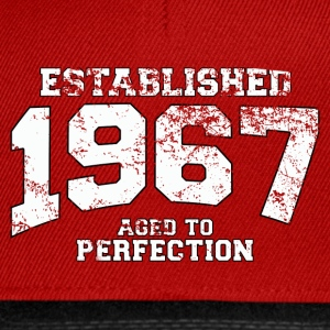 established 1967 - aged to perfection (uk) Tops - Snapback Cap