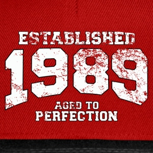 Geburtstag - established 1989 - aged to perfection - Snapback Cap