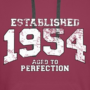 established 1954 - aged to perfection (nl) Tops - Mannen Premium hoodie