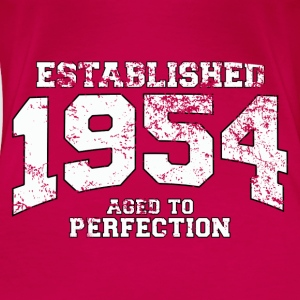 Geburtstag - established 1954 - aged to perfection - Frauen Premium T-Shirt