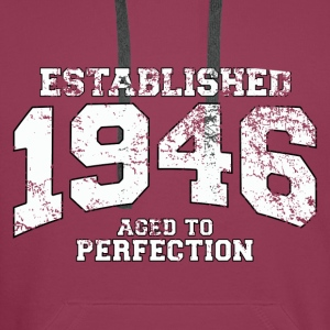established 1946 - aged to perfection (nl) Tops - Mannen Premium hoodie