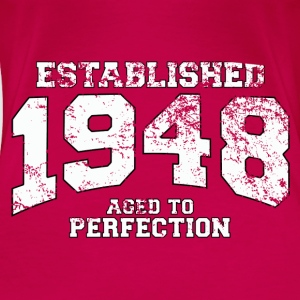 established 1948 - aged to perfection (es) Tops - Camiseta premium mujer