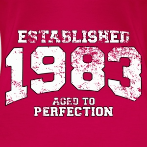 established 1983 - aged to perfection (uk) Tops - Women's Premium T-Shirt
