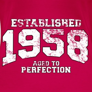 Geburtstag - established 1958 - aged to perfection - Frauen Premium T-Shirt